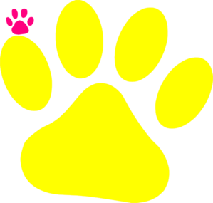Yellow Cat Paw Clip Art