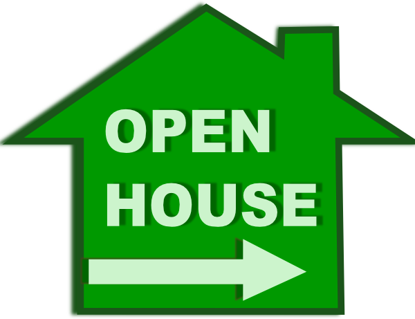 free clip art open house - photo #3