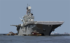 The Amphibious Assault Ship, Uss Bataan (lhd 5) Departs Naval Base Norfolk Today, Before Hurricane Isabel Arrives Clip Art