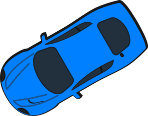 Blue Car - Top View - 210 Clip Art