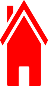 Red House Three Clip Art