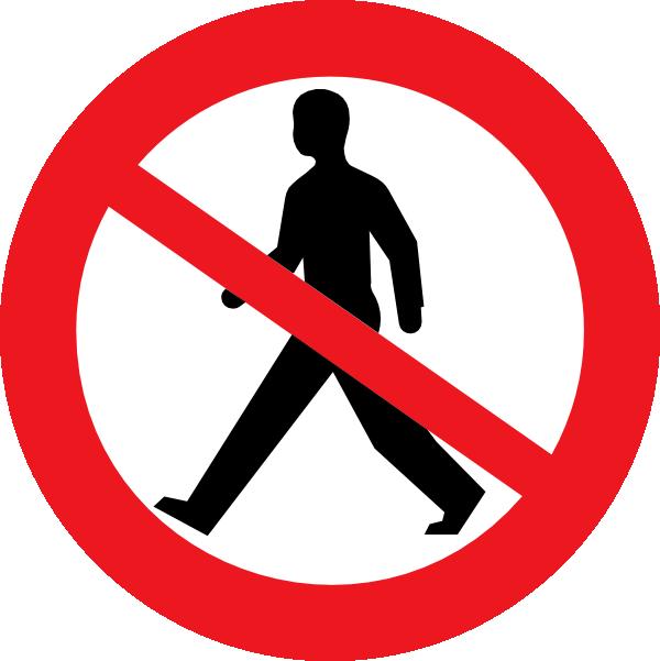 Do Not Enter Man Clip Art at Clker.com - vector clip art ...