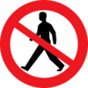 Do Not Enter Man Clip Art