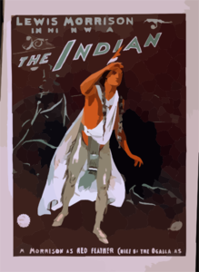 Lewis Morrision In His New Play, The Indian Clip Art