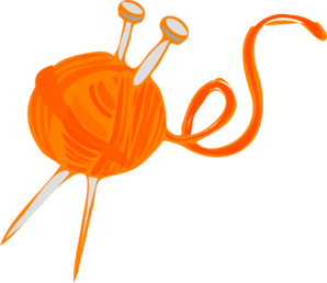 Orange Yarn Clip Art