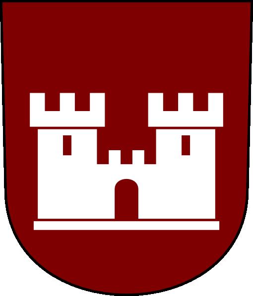 castle red shield clip art at clker com