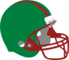 Green And Red Helmet Clip Art