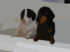 Pups In Bathtub Clip Art