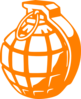 Orange Grenade Clip Art