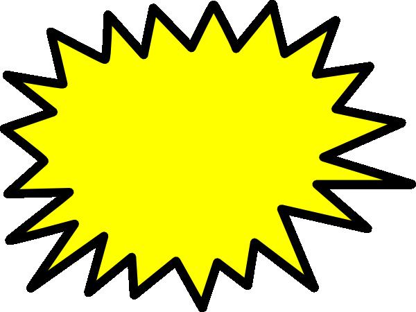 Yellow Star Burst Clip Art at Clker.com - vector clip art online ...