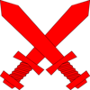 Red Crossed Swords Clip Art