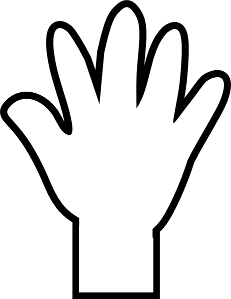 White Hand Print Clip Art At Clker