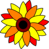 Sunflower Tatto Clip Art