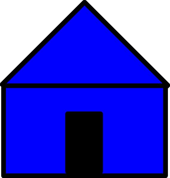 clip art blue house - photo #14