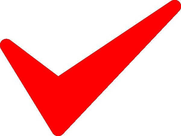 Red Tick Clip Art At Clkercom Vector Clip Art Online Royalty