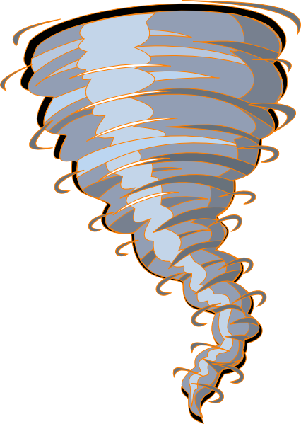 Twister Tornado Clip Art Orange Tornado ...