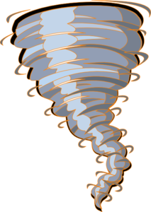 Orange Tornado Clip Art