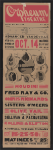 Houdini, Nothing On Earth Can Hold Houdini! Fred Ray & Co. In An Intensely Funny  Roman Travesty  .... Clip Art