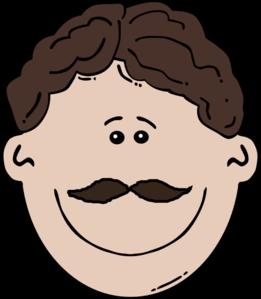 Smiling Mustache Man Clip Art at Clker com - vector clip art online    Smiling Man Clipart