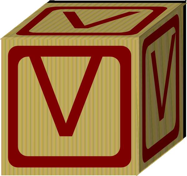 Letter Alphabet Block V Clip Art at Clker.com - vector ...