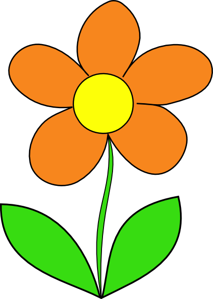 orange flower clip art at vector clip art