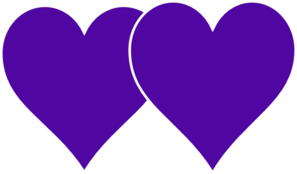 Two Hearts Lined In White Clip Art