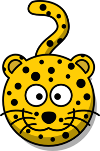 Leopard Head With Tail Clip Art