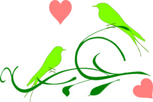 Green  Birds Clip Art