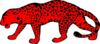 Red Leopard, Left Facing Clip Art