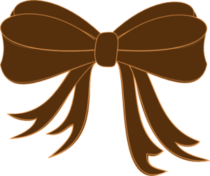 Brown Bow Ribbon Clip Art