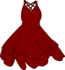Burgandy Dress Clip Art