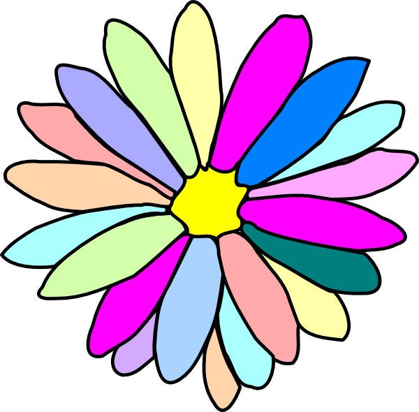 Colorful Flower Clip Art at Clker.com - vector clip art ... Colorful Flowers Clipart