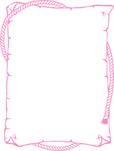 Rope Border Pink Clip Art