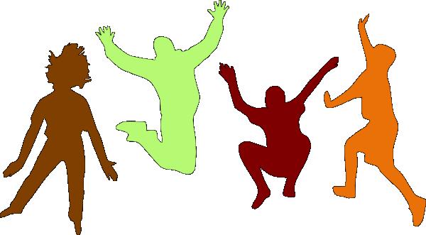 kids jumping (fall) clip art at clker - vector clip art online