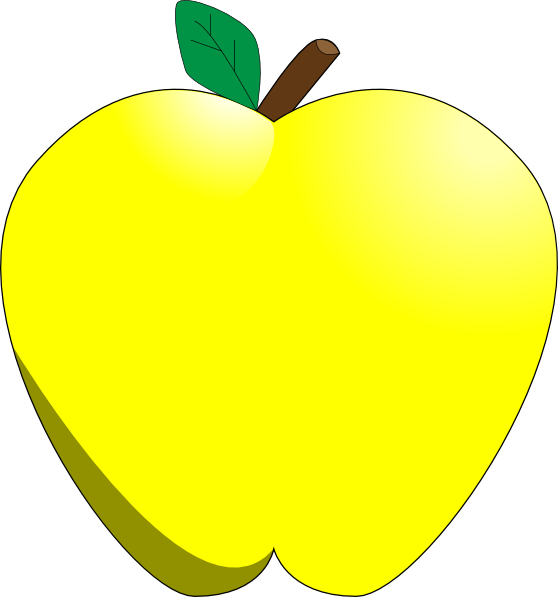 Yellow Apple Clip Art at Clker.com - vector clip art online, royalty ...