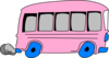 Pink School Bus Clip Art
