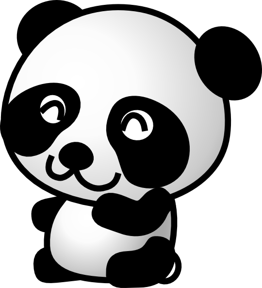 Cute Cartoon Panda Bears