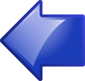 Blue Arrow Pointing Left Clip Art