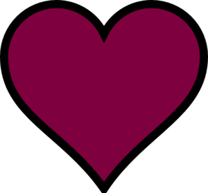 Maroon, Heart, Black, Decor Clip Art