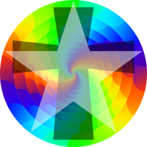 Colorwheel With Star Clip Art
