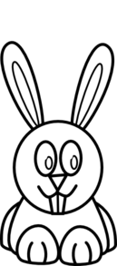 Black And White Bunny Clip Art