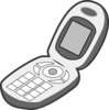 Cartoon Mobile Phone1 Clip Art