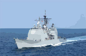 Uss Vella Gulf - At Sea Clip Art