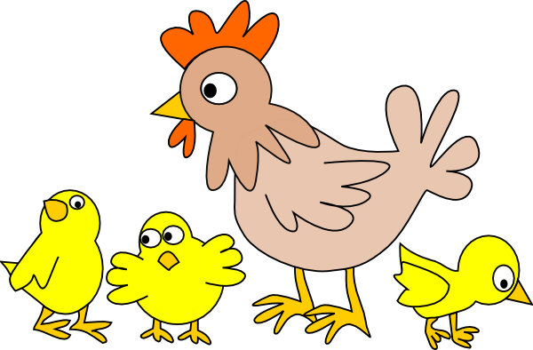 cartoon chicken clip art free - photo #34