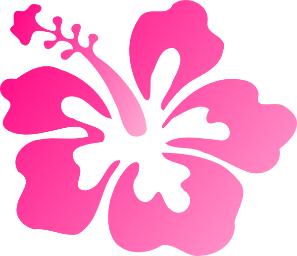 hibiscus pink clip art at clkercom vector clip art