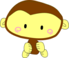 Brown Happy Monkey Clip Art