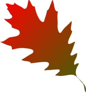 Autumn Leaf Red Green Clip Art