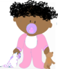 Baby Girl Curly  Clip Art