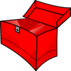 Red Toolbox Empty Clip Art