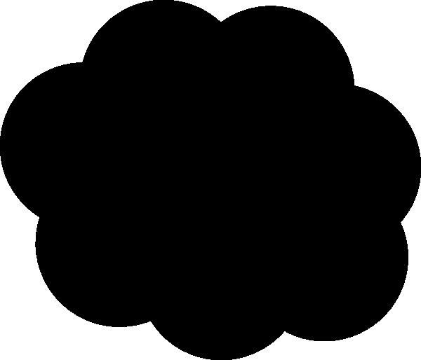 black cloud clip art at clkercom vector clip art online